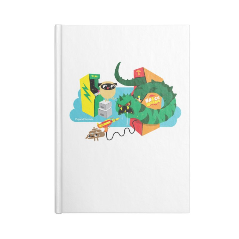 Pug and Poo Arcade Accessories Lined Journal Notebook by Pug and Poo's Store