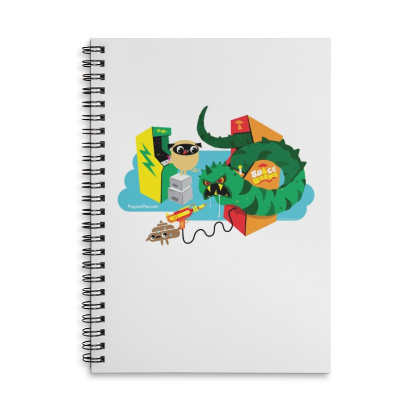 Pug and Poo Arcade Accessories Lined Spiral Notebook by Pug and Poo's Store