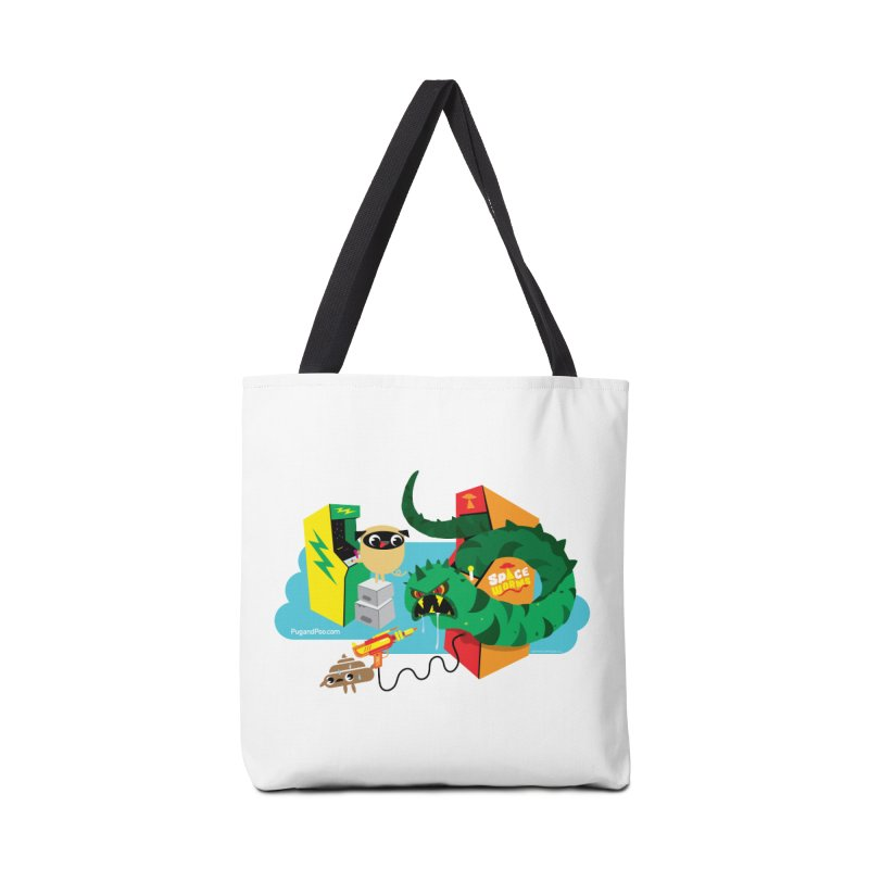 Pug and Poo Arcade Accessories Tote Bag Bag by Pug and Poo's Store