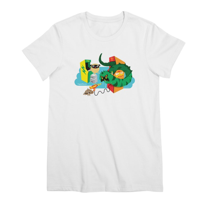Pug and Poo Arcade Women's Premium T-Shirt by Pug and Poo's Store