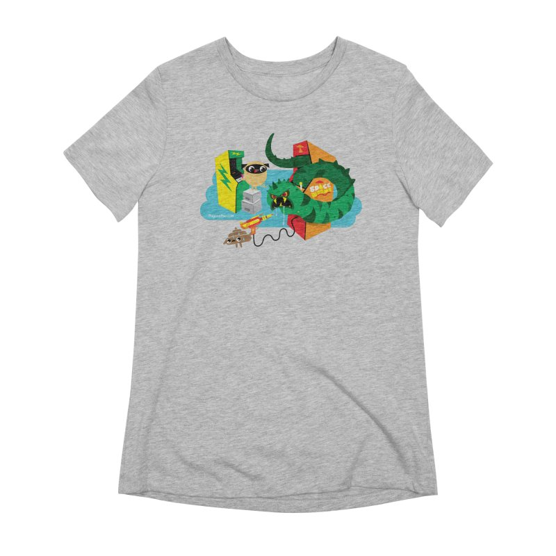 Pug and Poo Arcade Women's Extra Soft T-Shirt by Pug and Poo's Store