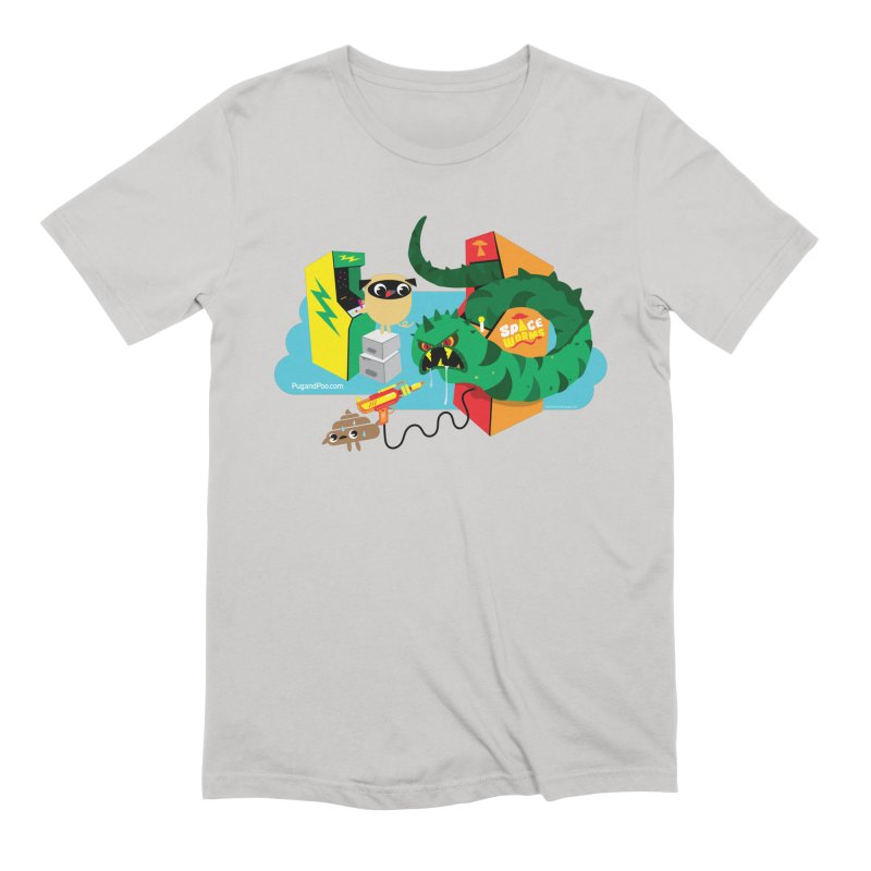 Pug and Poo Arcade Men's Extra Soft T-Shirt by Pug and Poo's Store