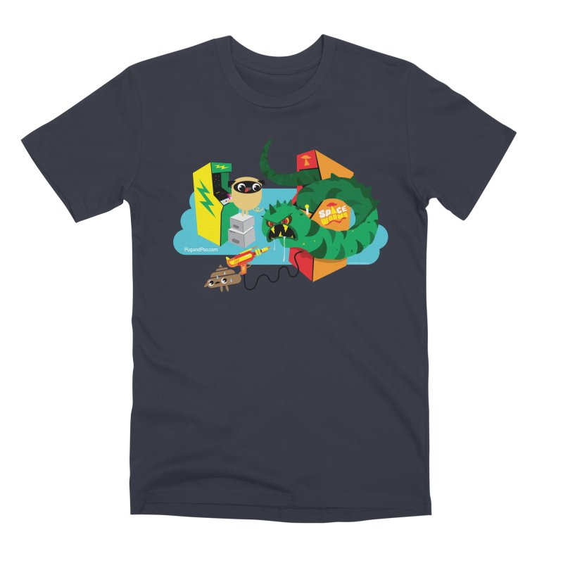 Pug and Poo Arcade Men's Premium T-Shirt by Pug and Poo's Store