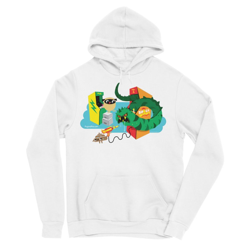 Pug and Poo Arcade Men's Sponge Fleece Pullover Hoody by Pug and Poo's Store