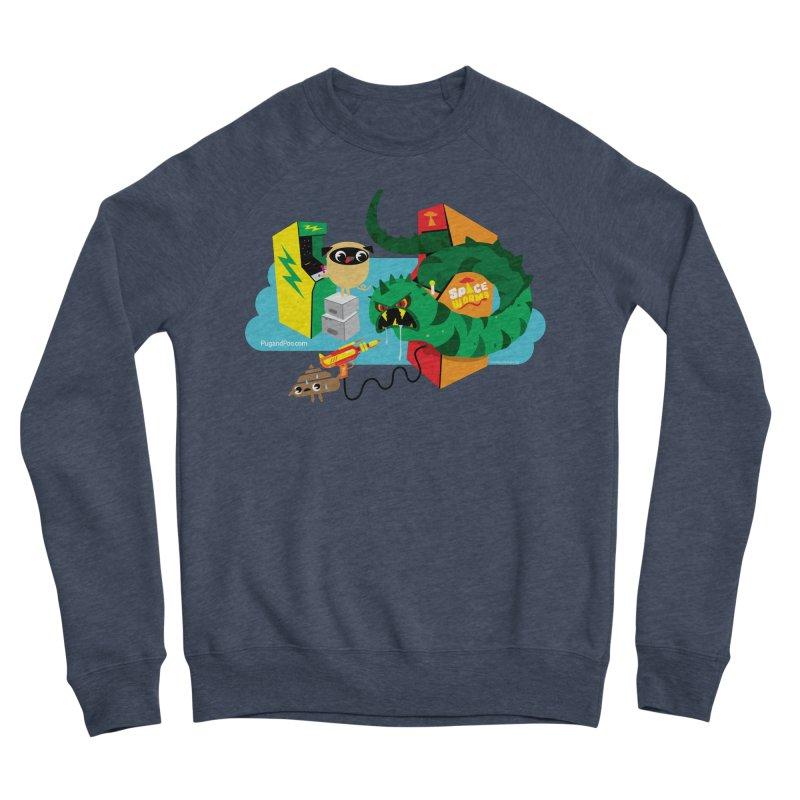 Pug and Poo Arcade Men's Sponge Fleece Sweatshirt by Pug and Poo's Store