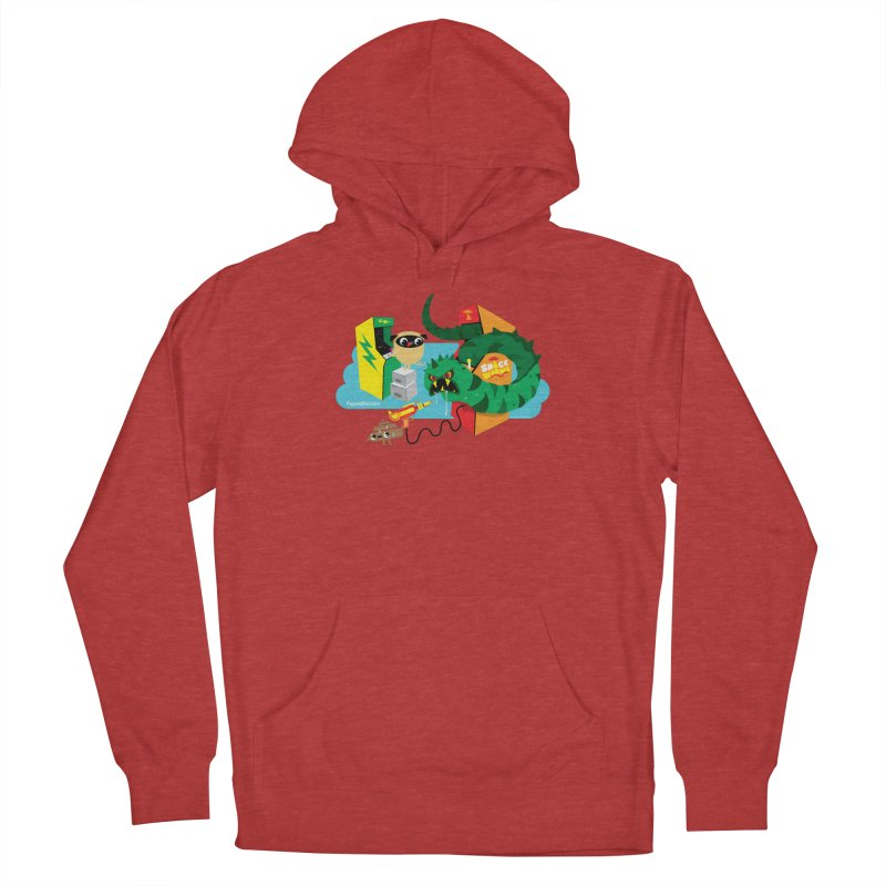Pug and Poo Arcade Men's French Terry Pullover Hoody by Pug and Poo's Store