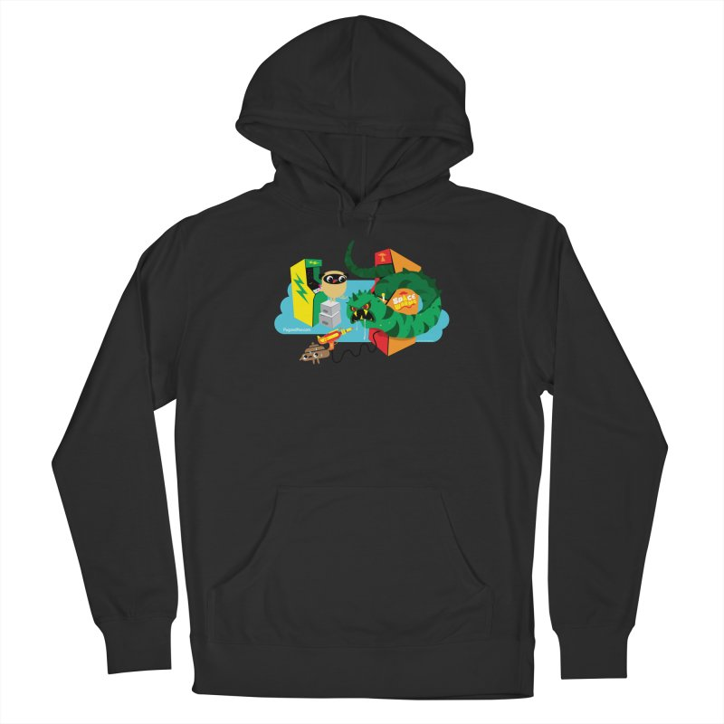 Pug and Poo Arcade Women's French Terry Pullover Hoody by Pug and Poo's Store