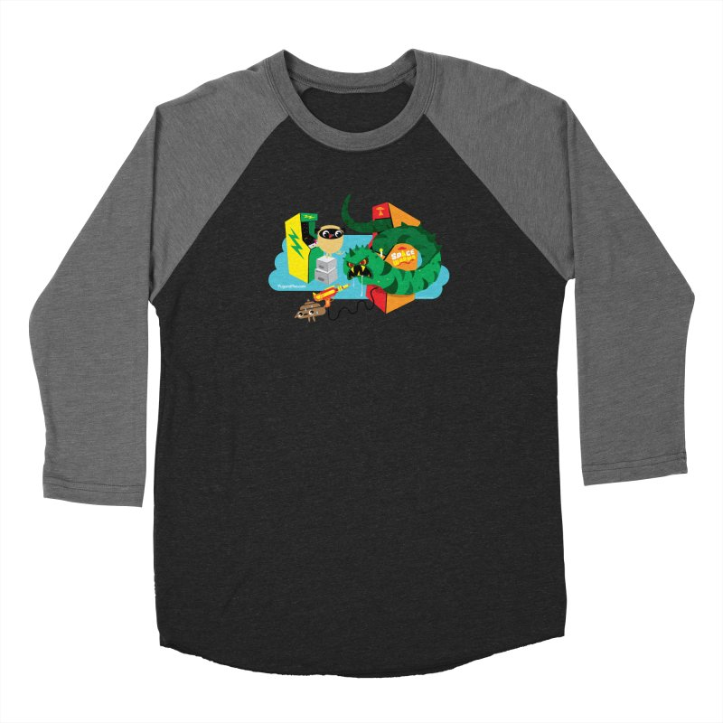 Pug and Poo Arcade Women's Baseball Triblend Longsleeve T-Shirt by Pug and Poo's Store