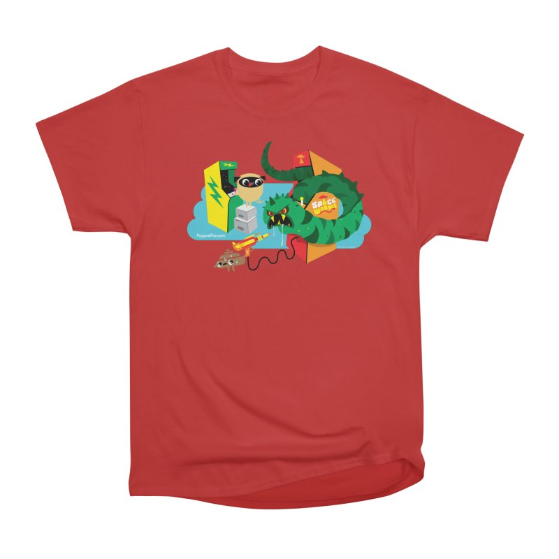 Pug and Poo Arcade Men's Heavyweight T-Shirt by Pug and Poo's Store