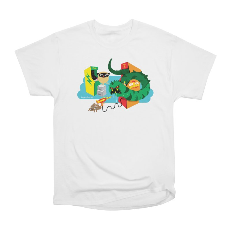 Pug and Poo Arcade Women's Heavyweight Unisex T-Shirt by Pug and Poo's Store