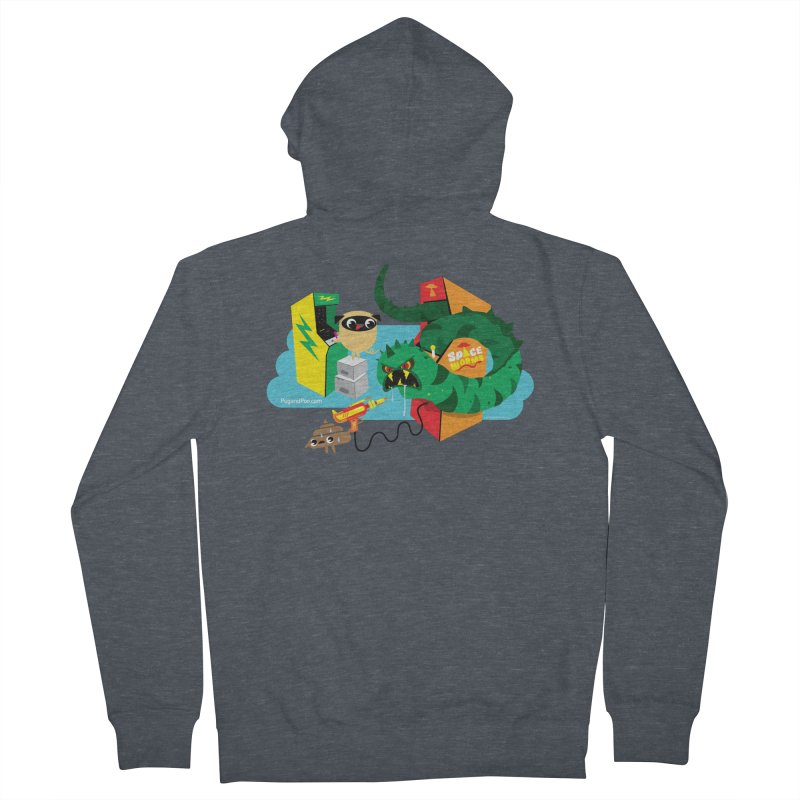Pug and Poo Arcade Women's Zip-Up Hoody by Pug and Poo's Store