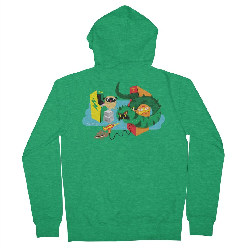 Pug and Poo Arcade Men's Zip-Up Hoody by Pug and Poo's Store