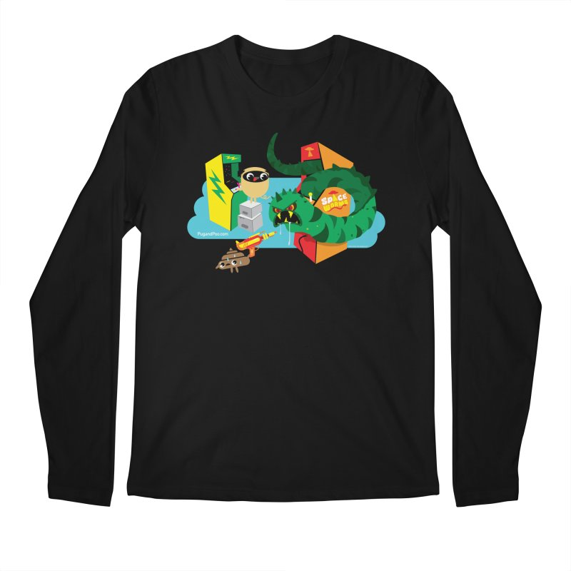 Pug and Poo Arcade Men's Longsleeve T-Shirt by Pug and Poo's Store