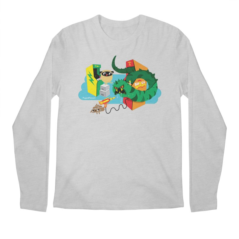 Pug and Poo Arcade Men's Regular Longsleeve T-Shirt by Pug and Poo's Store