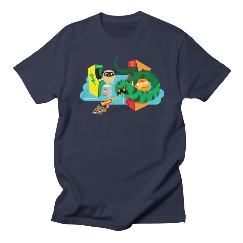 Pug and Poo Arcade Men's Regular T-Shirt by Pug and Poo's Store