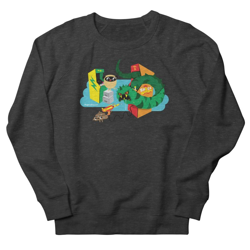 Pug and Poo Arcade Women's French Terry Sweatshirt by Pug and Poo's Store
