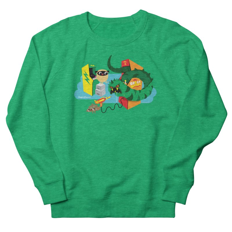 Pug and Poo Arcade Men's French Terry Sweatshirt by Pug and Poo's Store