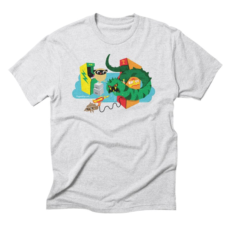 Pug and Poo Arcade Men's Triblend T-Shirt by Pug and Poo's Store