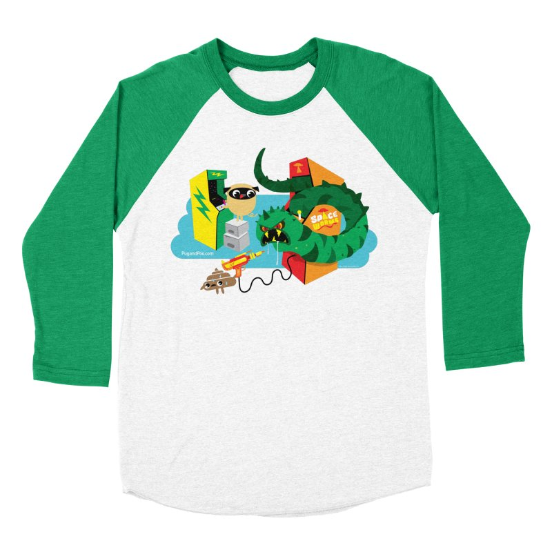 Pug and Poo Arcade Men's Baseball Triblend Longsleeve T-Shirt by Pug and Poo's Store