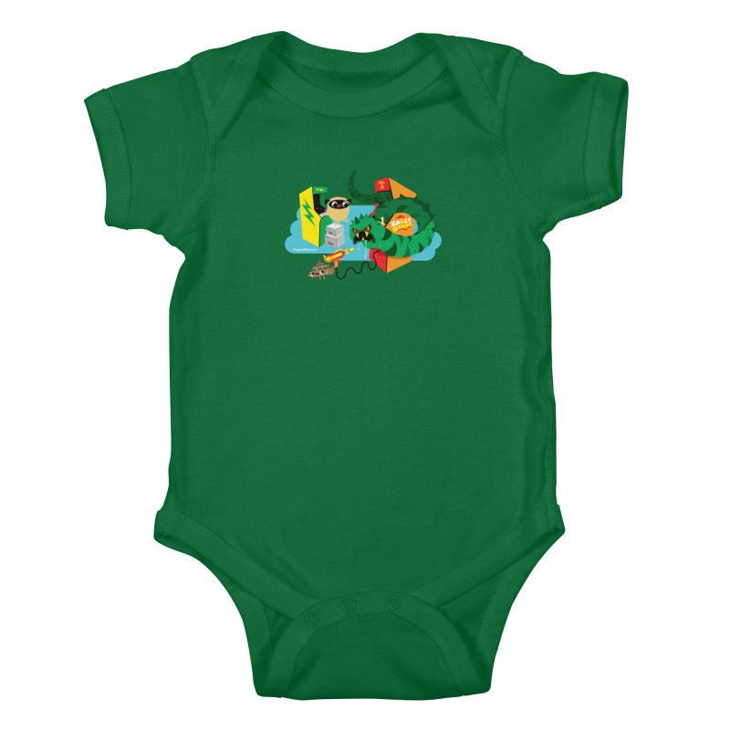 Pug and Poo Arcade Kids Baby Bodysuit by Pug and Poo's Store