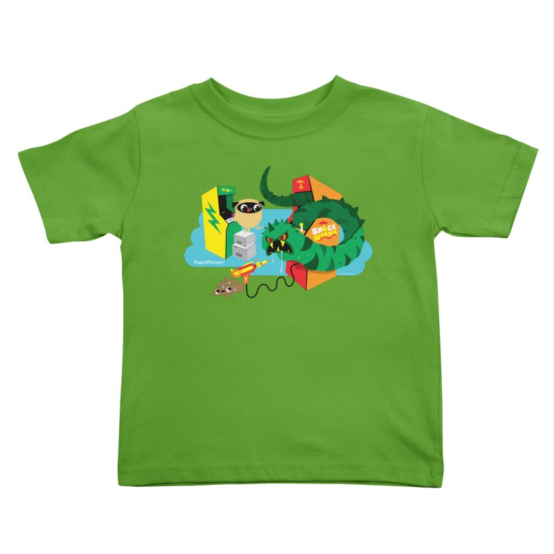 Pug and Poo Arcade Kids Toddler T-Shirt by Pug and Poo's Store