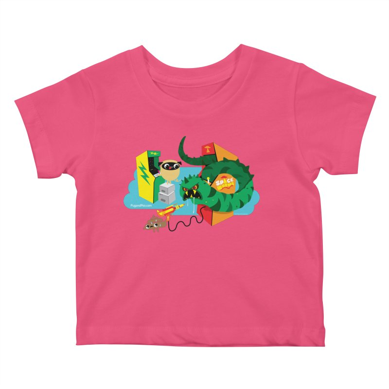 Pug and Poo Arcade Kids Baby T-Shirt by Pug and Poo's Store