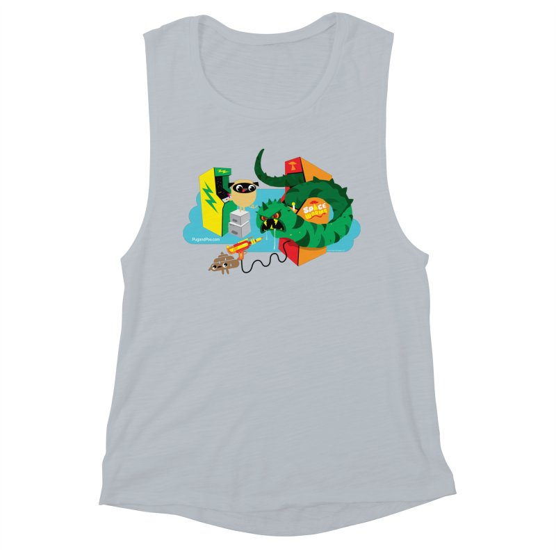 Pug and Poo Arcade Women's Muscle Tank by Pug and Poo's Store