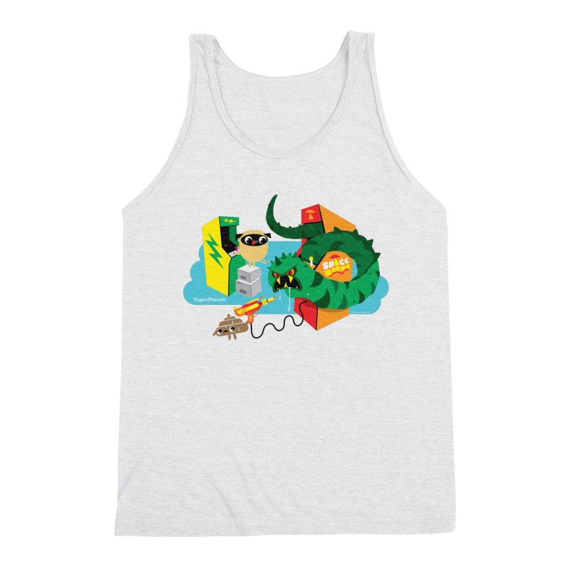 Pug and Poo Arcade Men's Triblend Tank by Pug and Poo's Store