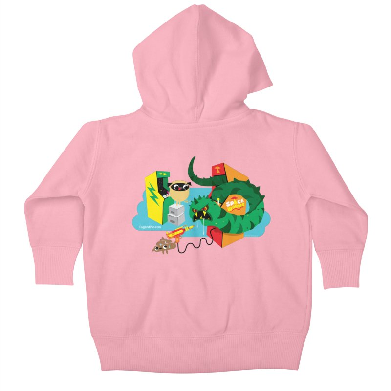 Pug and Poo Arcade Kids Baby Zip-Up Hoody by Pug and Poo's Store