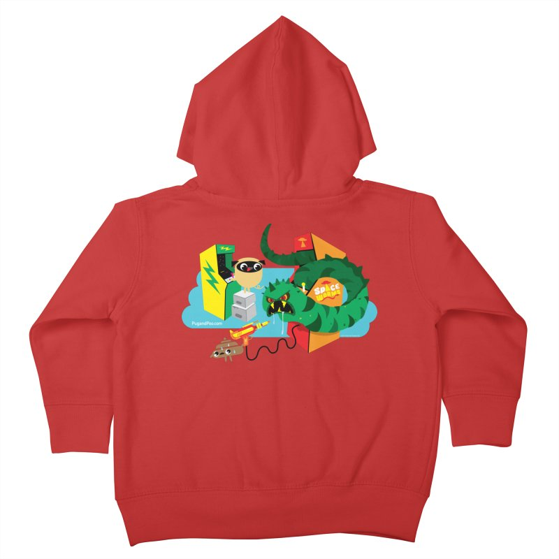 Pug and Poo Arcade Kids Toddler Zip-Up Hoody by Pug and Poo's Store