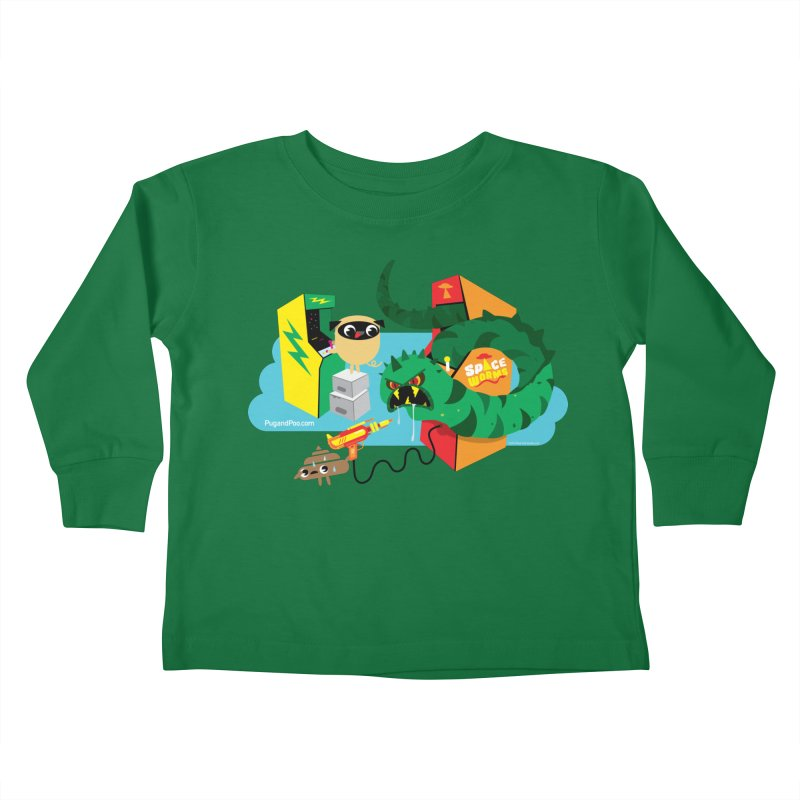 Pug and Poo Arcade Kids Toddler Longsleeve T-Shirt by Pug and Poo's Store