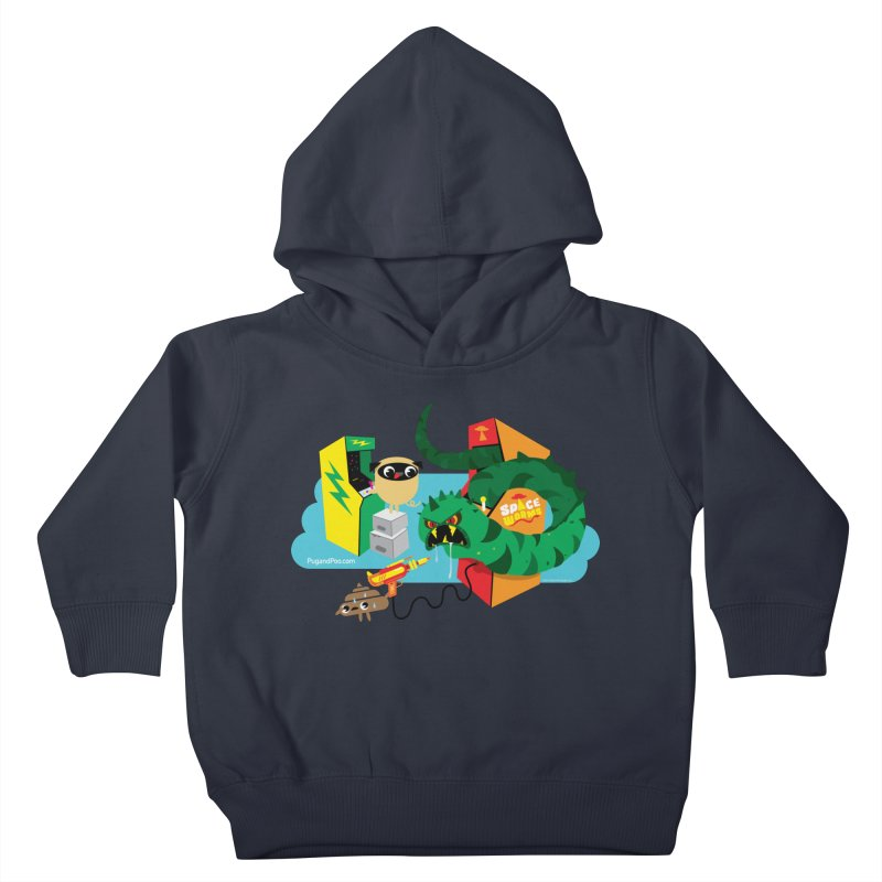 Pug and Poo Arcade Kids Toddler Pullover Hoody by Pug and Poo's Store