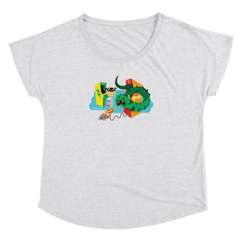Pug and Poo Arcade Women's Dolman Scoop Neck by Pug and Poo's Store