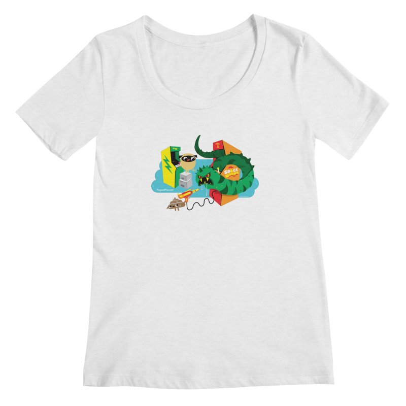 Pug and Poo Arcade Women's Scoop Neck by Pug and Poo's Store