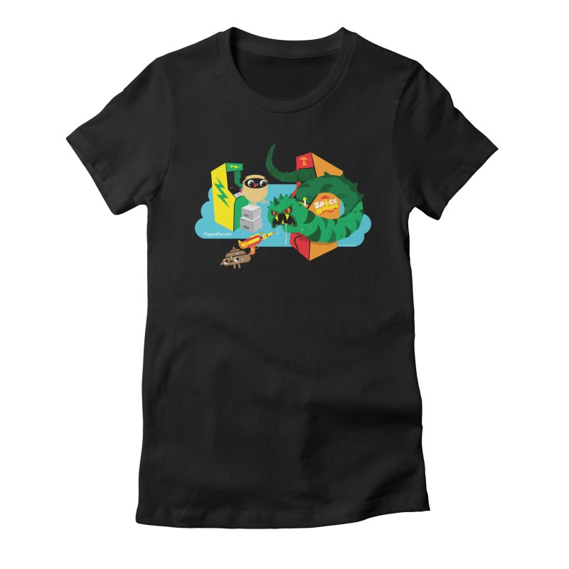 Pug and Poo Arcade Women's Fitted T-Shirt by Pug and Poo's Store