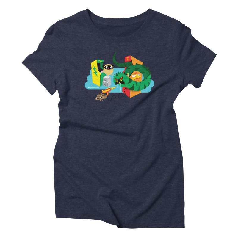 Pug and Poo Arcade Women's Triblend T-Shirt by Pug and Poo's Store
