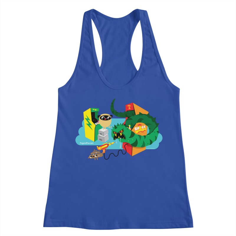 Pug and Poo Arcade Women's Racerback Tank by Pug and Poo's Store
