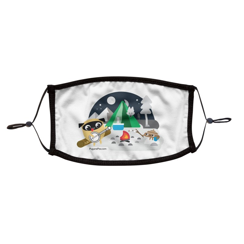 Pug and Poo Campfire Accessories Face Mask by Pug and Poo's Store