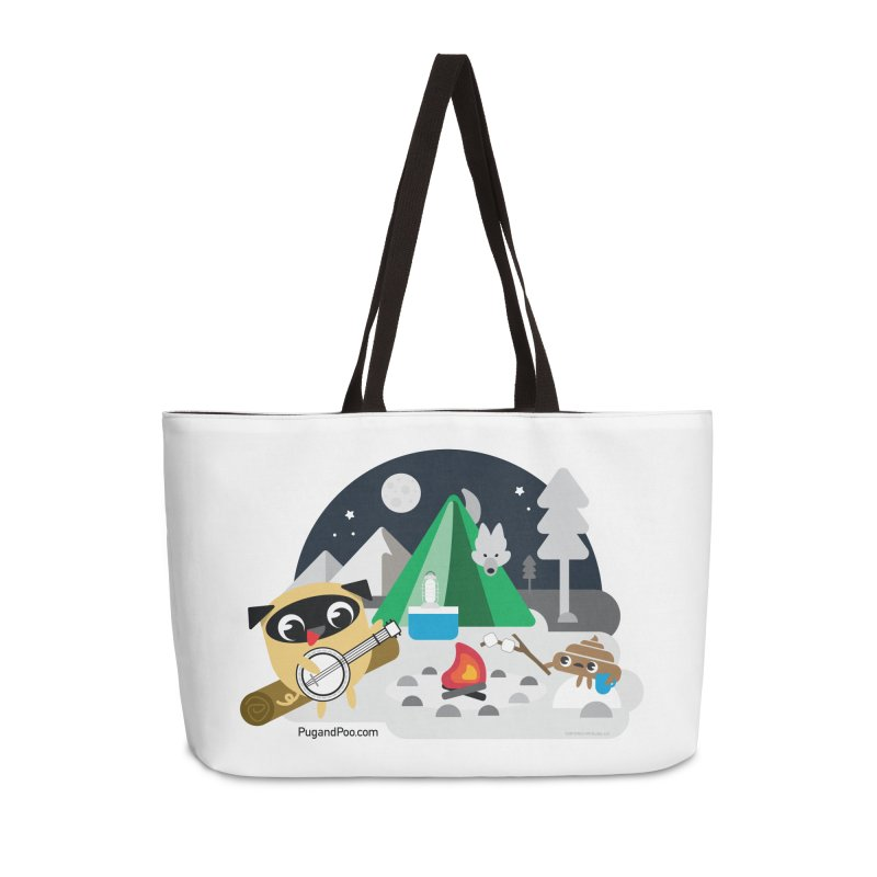 Pug and Poo Campfire Accessories Weekender Bag Bag by Pug and Poo's Store