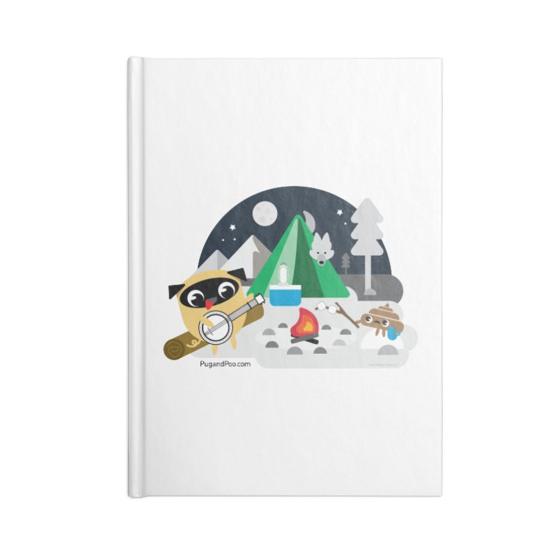 Pug and Poo Campfire Accessories Lined Journal Notebook by Pug and Poo's Store