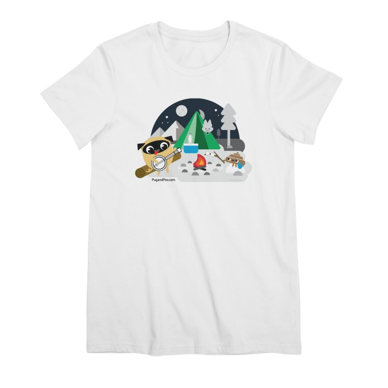 Pug and Poo Campfire Women's Premium T-Shirt by Pug and Poo's Store
