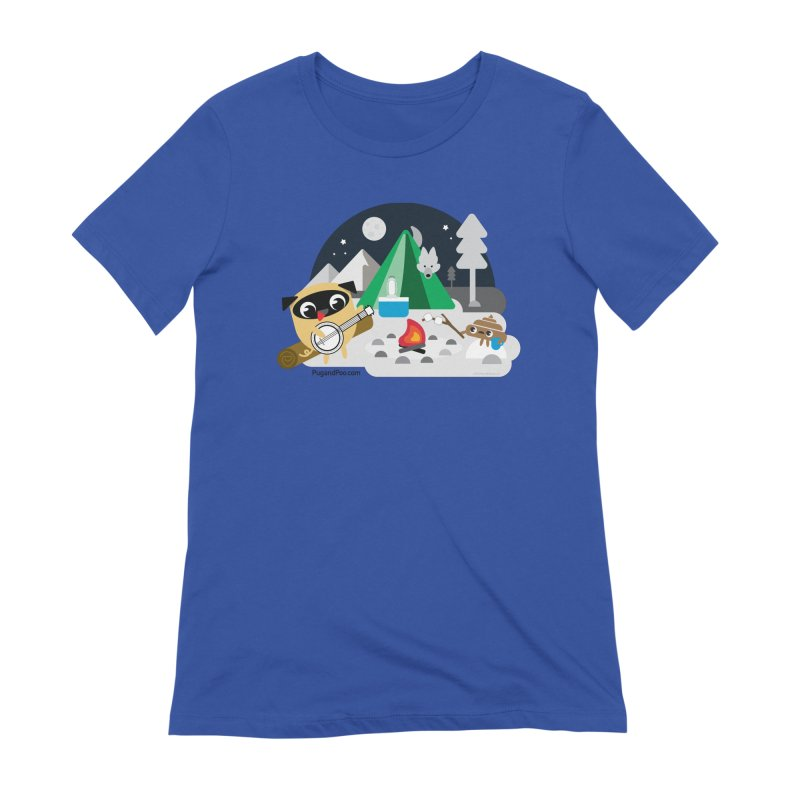 Pug and Poo Campfire Women's Extra Soft T-Shirt by Pug and Poo's Store
