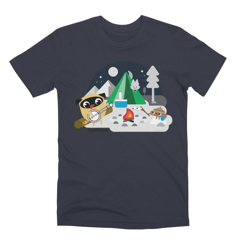 Pug and Poo Campfire Men's Premium T-Shirt by Pug and Poo's Store