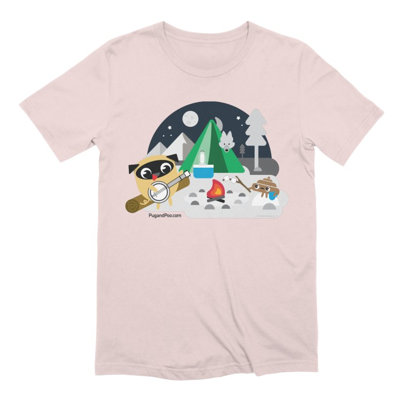 Pug and Poo Campfire Men's Extra Soft T-Shirt by Pug and Poo's Store