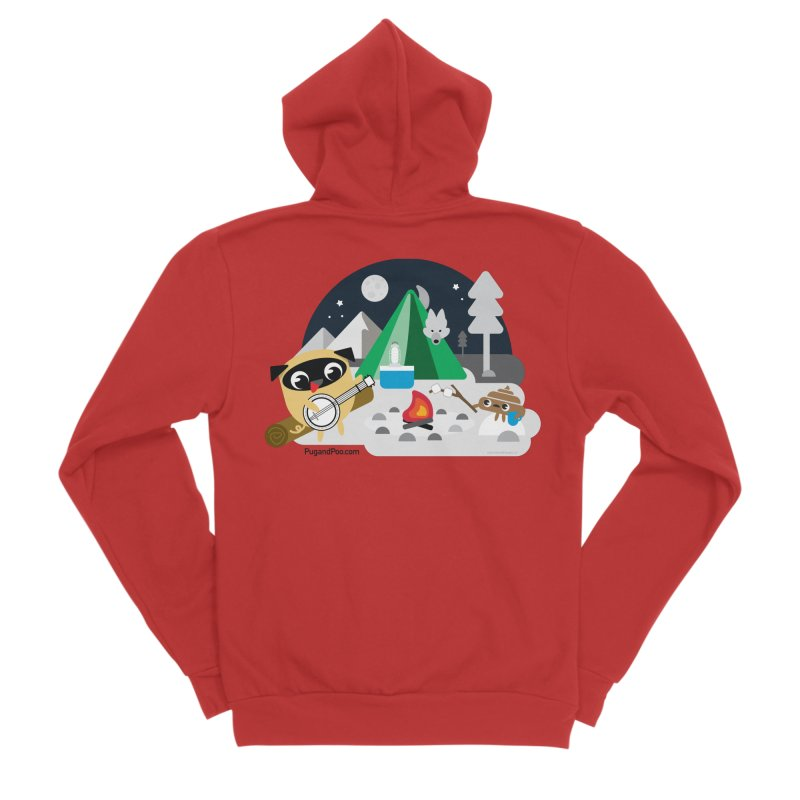 Pug and Poo Campfire Women's Zip-Up Hoody by Pug and Poo's Store
