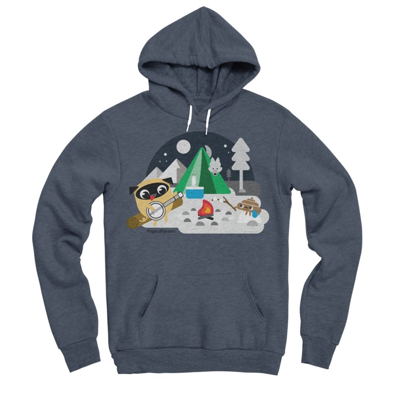 Pug and Poo Campfire Men's Sponge Fleece Pullover Hoody by Pug and Poo's Store
