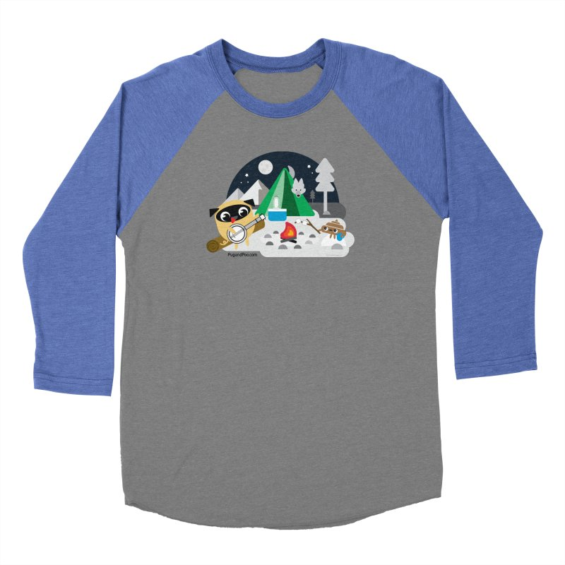 Pug and Poo Campfire Women's Baseball Triblend Longsleeve T-Shirt by Pug and Poo's Store