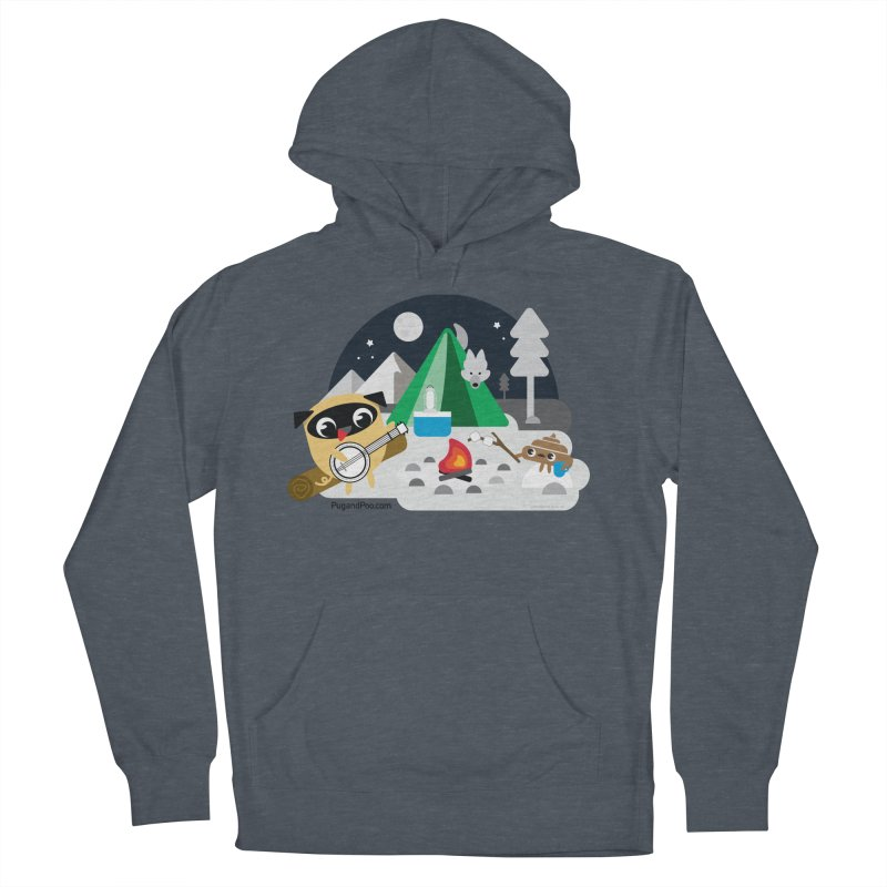 Pug and Poo Campfire Women's French Terry Pullover Hoody by Pug and Poo's Store