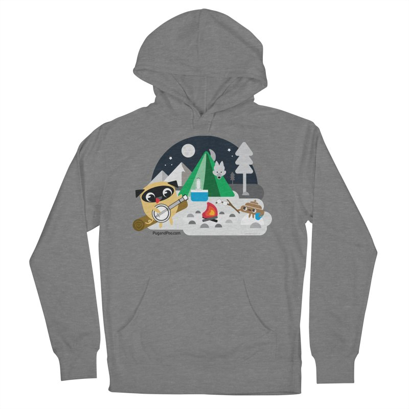 Pug and Poo Campfire Women's Pullover Hoody by Pug and Poo's Store