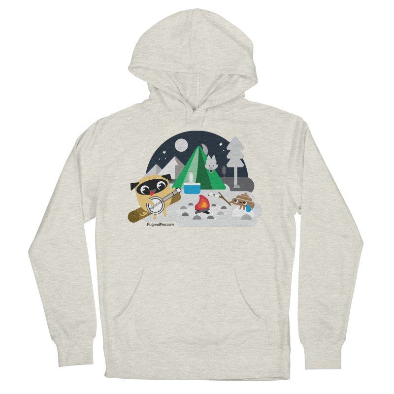 Pug and Poo Campfire Men's French Terry Pullover Hoody by Pug and Poo's Store
